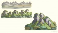 Studies of environments for 3D background (unused)